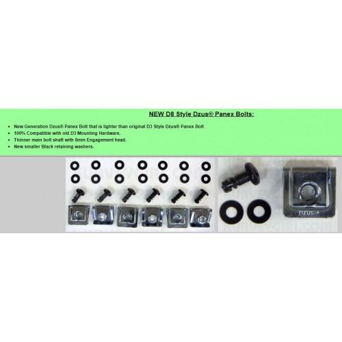 6pc - Black Button Head Dzus, Clip, Fiberglass Bodywork (12mm)D8